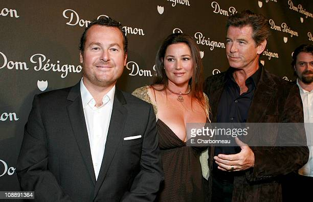 Frederic Cumenal President of Dom Perignon Keely Shaye Smith and Pierce Brosnan