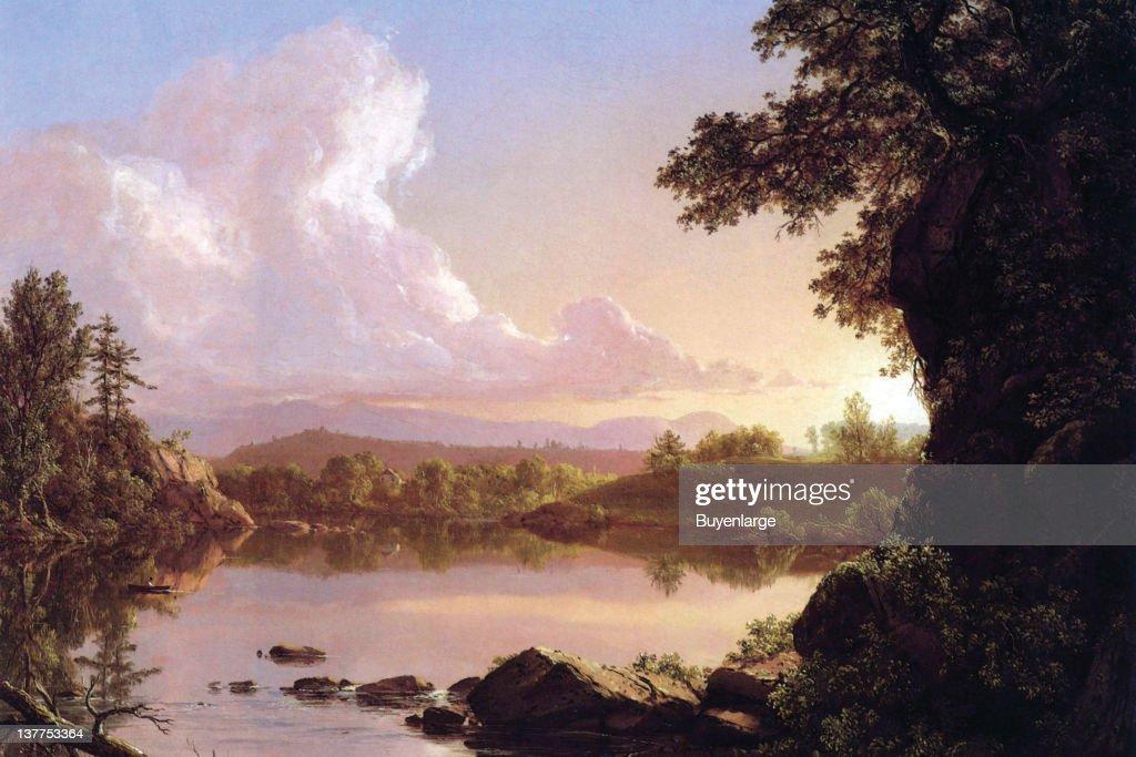 Frederic Edwin Church's Water scene in New York's Catskill Mountains 1860