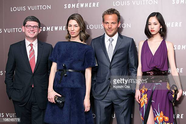 Frederic Grangie President and CEO of Louis Vuitton Japan Company director and screenwriter Sofia Coppola actor Stephen Dorff and model Kiko Mizuhara...
