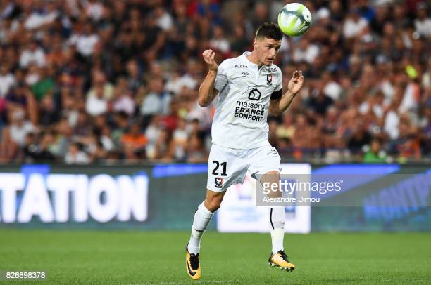 Frederic Guilbert of Caen during the Ligue 1 match between Montpellier Herault SC and SM Caen at Stade de la Mosson on August 5 2017 in Montpellier
