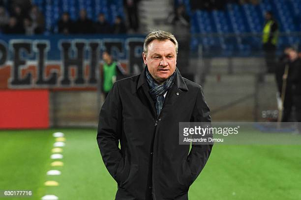 Frederic Hantz head coach of Montpellier during the French Ligue 1 match between Montpellier and Bordeaux at Stade de la Mosson on December 17 2016...