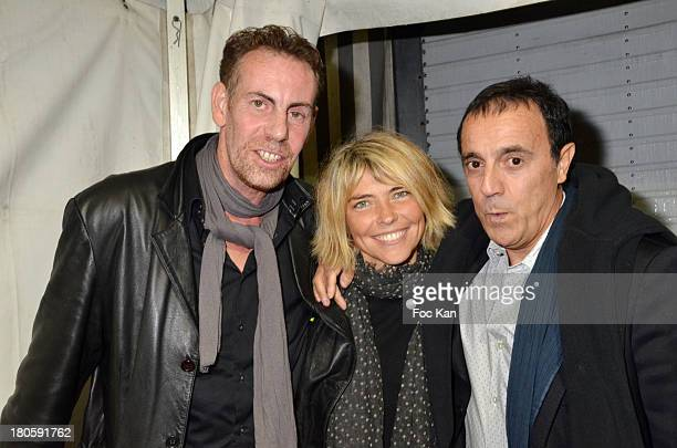 Frederic Kets Nathalie Vincent and Thierry Beccaro attend 'La Tele Chante' Party during La Fete A Neu Neu At La Porte De La Muette on September 14...