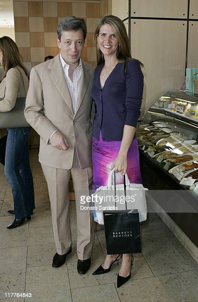 Frederic Malle and Colleen Bell during Frederic Malle Fragrance Launch Breakfast at Barneys New York in Beverly Hills at Barney's Greengrass in...