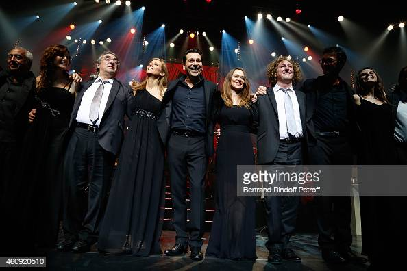 Frederic Manoukian Anne Garvoin Laurent Gerra a musician and David Mignot attend the Laurent Gerra Show at Palais des Sports on December 2326 and 27...