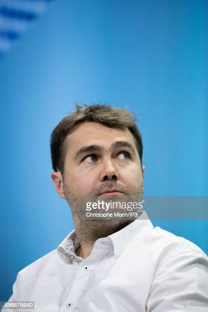 Frederic Mazzella Founder and President of BlaBlaCar attends a conference during Viva Technology at Parc des Expositions Porte de Versailles on June...
