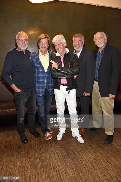 Frederic Meisner BjoernHergen Schimpf Joerg Draeger Harry Wijnvoord and Karl Dall attend the Presentation Of New Multichannel TV Show on September 7...