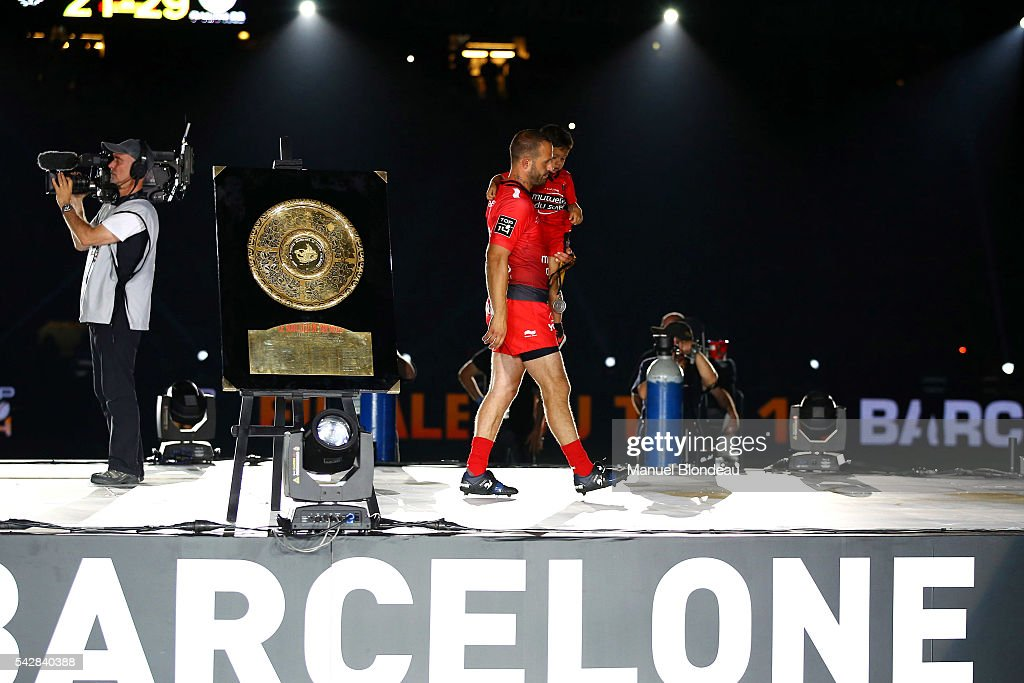 Frederic Michalak looks dejected during the Rugby Top 14 Final between RC Toulon and Racing 92 at Camp Nou on June 24, 2016 in Barcelona, Spain.