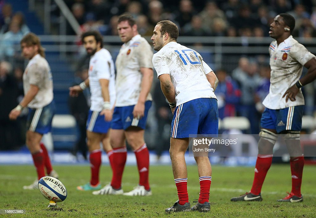 Frederic Michalak of France in action during the Rugby Autumn International between France and Samoa at the Stade de France on November 24, 2012 in Paris, France.