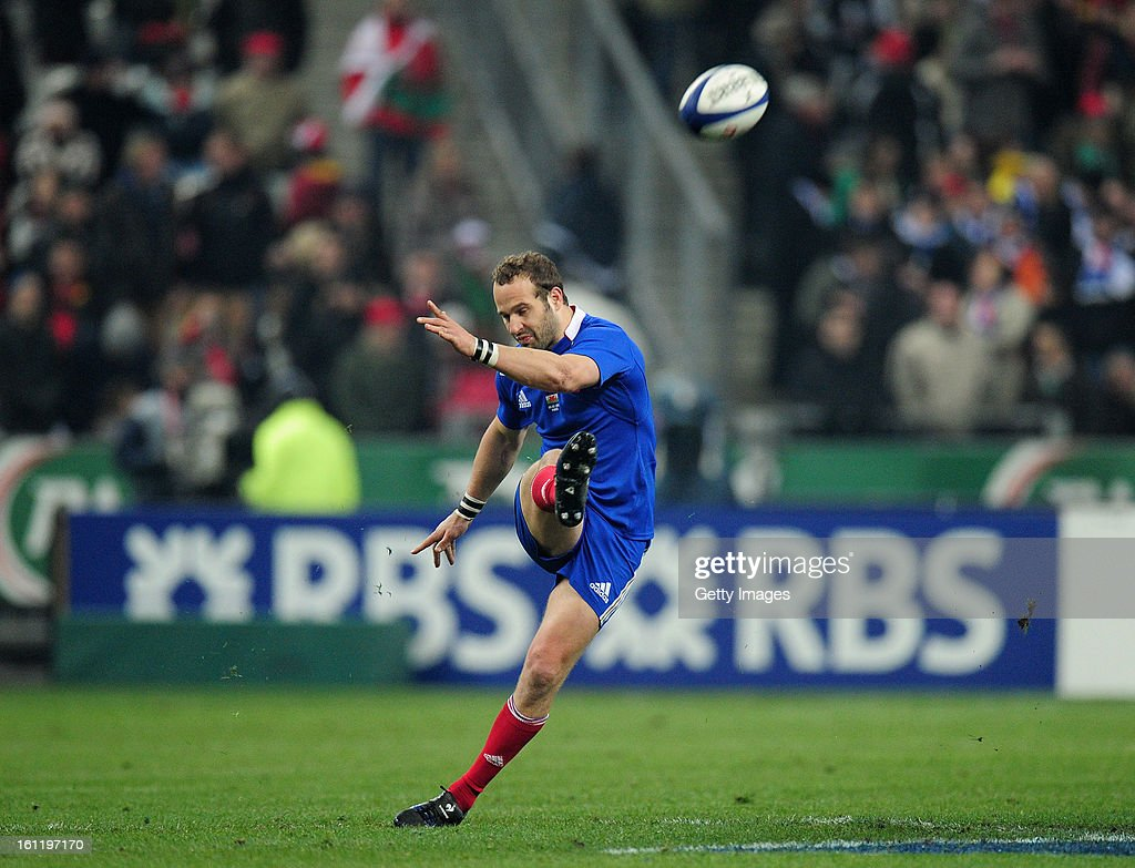 Frederic Michalak of France kicks during the RBS Six Nations match between France and Wales at Stade de France on February 9, 2013 in Paris, France.