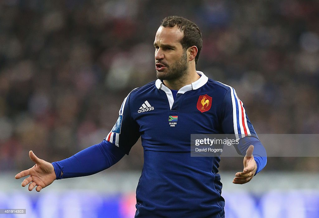 <a gi-track='captionPersonalityLinkClicked' href=/galleries/search?phrase=Frederic+Michalak&family=editorial&specificpeople=209294 ng-click='$event.stopPropagation()'>Frederic Michalak</a> of France looks on during the International match between France and South Africa at Stade de France on November 23, 2013 in Paris, France.