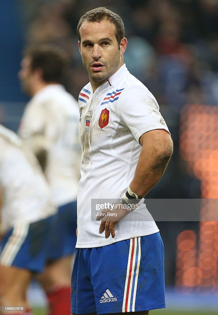 Frederic Michalak of France looks on during the Rugby Autumn International between France and Samoa at the Stade de France on November 24, 2012 in Paris, France.