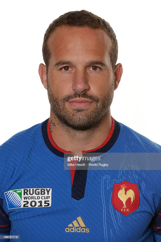 Frederic Michalak of France poses during the France Rugby World Cup 2015 squad photo call at the Selsdon Park Hotel on September 15, 2015 in Croydon, England.