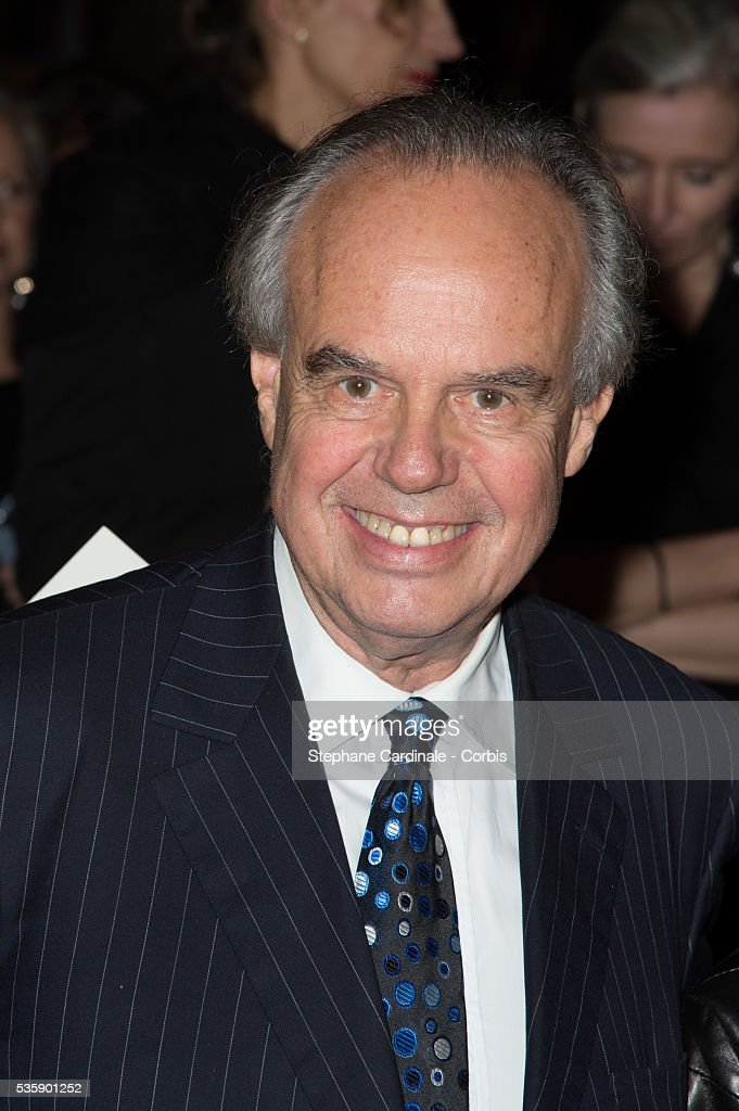 Frederic Mitterand arrives at a Ralph Lauren Collection Show and private dinner at Les Beaux-Arts de Paris on October 8, 2013 in Paris, France. On this occasion Ralph Lauren celebrates the restoration project and patron sponsorship of 'L'Ecole des Beaux-Arts'.