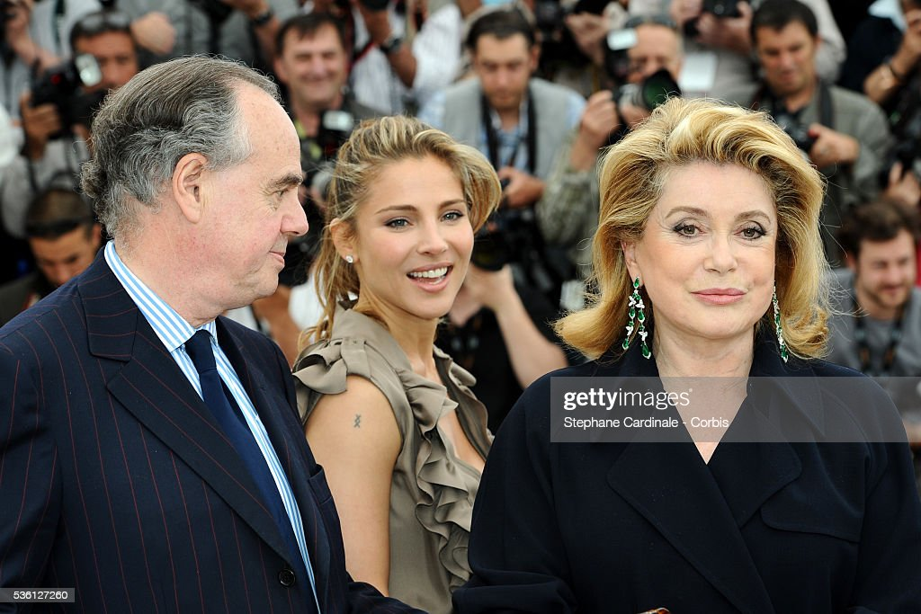 Frederic Mitterrand Elsa Pataky and Catherine Deneuve at the Photocall for 'Homage To The Spanish Cinema' during the 63rd Cannes International Film...