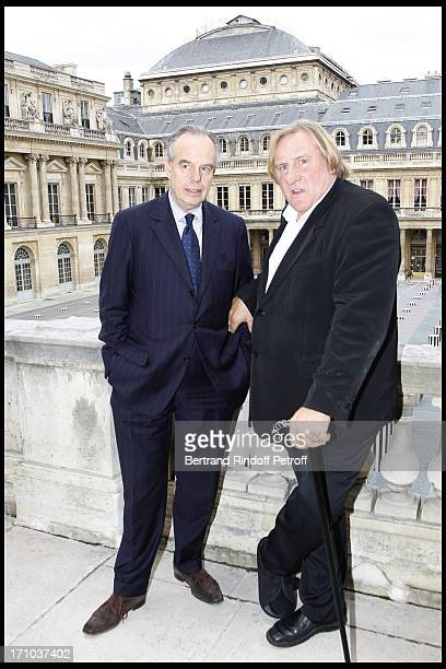 Frederic Mitterrand Gerard Depardieu at 1st Edition Of The Barbara Prize At Culture Ministry