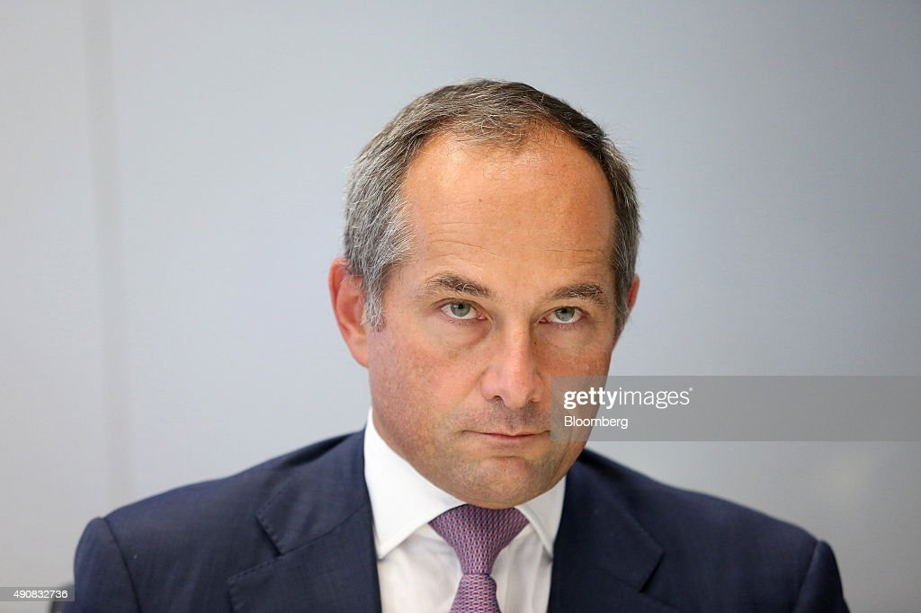 Frederic Oudea chief executive officer of Societe Generale SA pauses during an interview in London UK on Thursday Oct 1 2015 Oudea said the slump in...