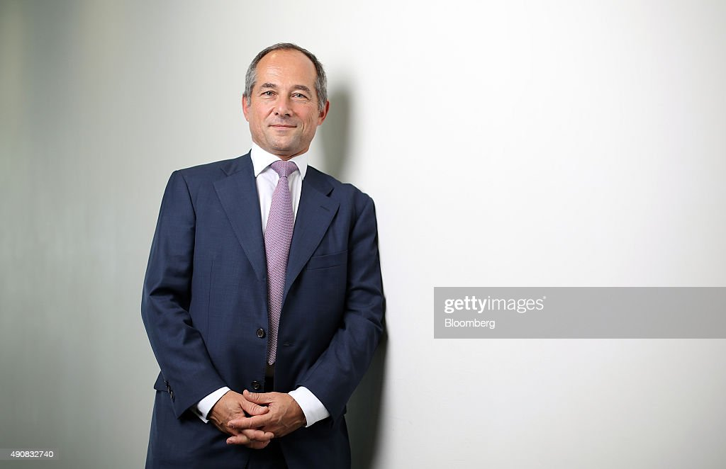 Frederic Oudea chief executive officer of Societe Generale SA poses for a photograph in London UK on Thursday Oct 1 2015 Oudea said the slump in oil...