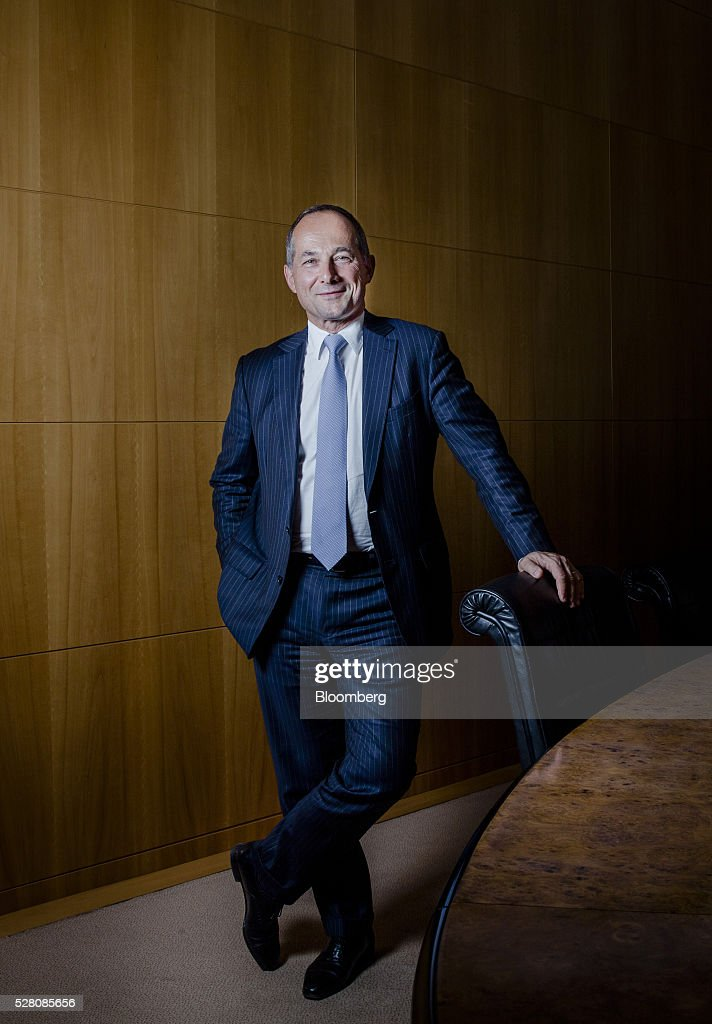 Frederic Oudea chief executive officer of Societe Generale SA poses for a photograph following an interview at the bank's headquarters in Paris...