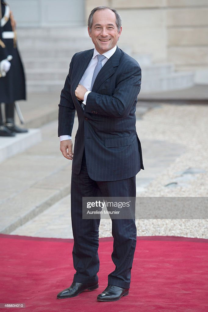 Frederic Oudea, Chief Executive Officer to Societe Generale and President of the European Banking Federation arrives to the State Dinner in honor of Tunisian President Beji Caid Essebsi at Elysee Palace on April 7, 2015 in Paris, France. The President of Tunisia Beji Caid Essebsi started a 2 days visit on April 7th.