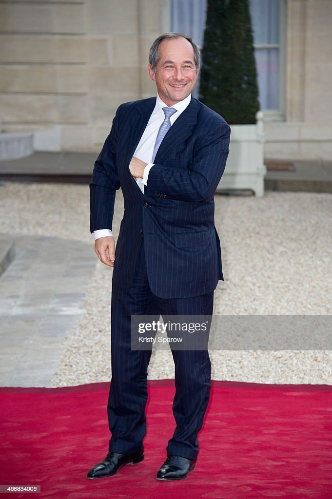Frederic Oudea, Chief Executive Officer to Societe Generale and the President of the European Banking Federation, arrives for a state dinner in honor of the Tunisian President Beji Caid Essebsi on April 7, 2015 at the Elysee Palace in Paris, France.