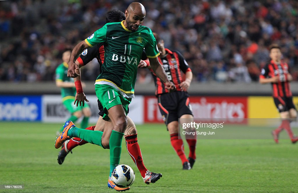 Frederic Oumar Kanoute of Beijing Go'an in action during the AFC Champions League round of 16 match between FC Seoul and Beijing Go'an at Seoul World Cup Stadium on May 21, 2013 in Seoul, South Korea.