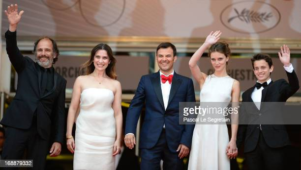Frederic Pierrot Geraldine Pailhas Francois Ozon Marine Vacth and Fantin Ravat attend the 'Jeune Jolie' premiere during The 66th Annual Cannes Film...
