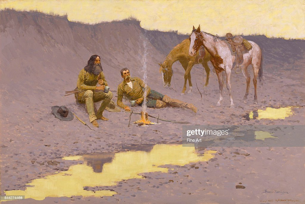 Frederic Remington A New Year on the Cimarron oil on canvas 692 x 1022 cm Museum of Fine Arts Houston