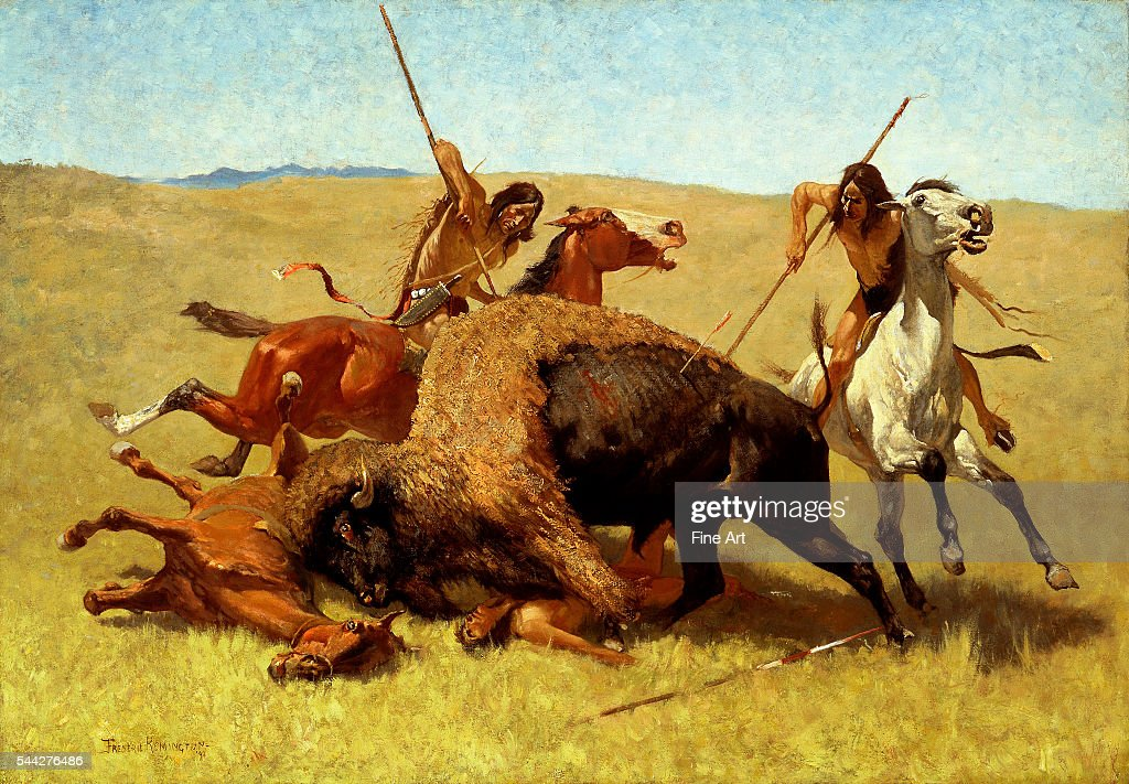 Frederic Remington The Buffalo Hunt oil on canvas 864 × 1245 cm Buffalo Bill Historical Center Cody Wyoming