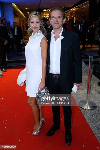 Frederic Saldmann and his wife Marie attend the 'Le nouveau Stagiare' movie Premiere to Benefit 'Claude Pompidou Foundation' held at Cinema 'UGC...
