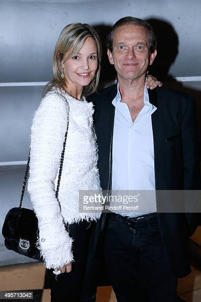 Frederic Saldmann and his wife Marie Saldmann attend Singer Arielle Dombasle performs at La Cigale on November 4 2015 in Paris France