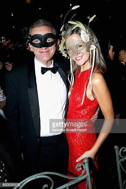 Frederic Saldmann and his wife Marie Saldmann attend the Christian Dior Haute Couture Spring Summer 2017 Bal Masque as part of Paris Fashion Week on...