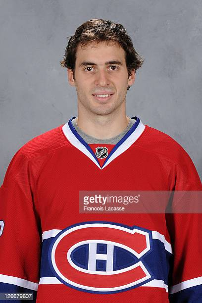 Frederic StDenis of the Montreal Canadiens poses for his official headshot for the 20112012 season on September 16 2011 at the Bell Sports Complex in...