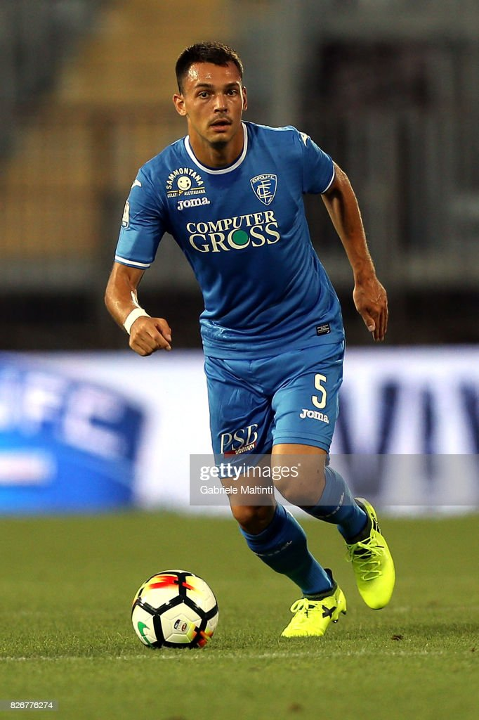 Frederic Veseli of Empoli Fc in action during the TIM Cup match between Empoli FC and Renate at Stadio Carlo Castellani on August 5, 2017 in Empoli, Italy.