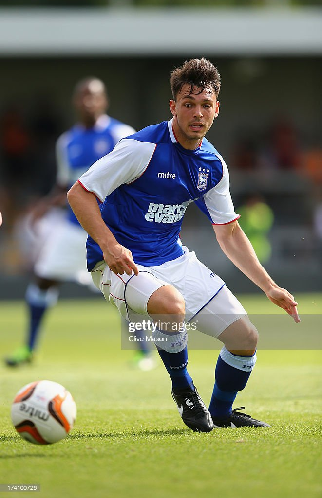 Frederic Veseli of Ipswich Town in action during the pre season friendly match between Barnet and Ipswich Town at The Hive on July 20, 2013 in Barnet, England.