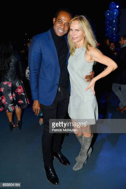 Frederick Anderson and Valesca Guerrand Hermes attend The Blue Jacket Fashion Show to Benefit the Prostate Cancer Foundation at Pier 59 Studios on...