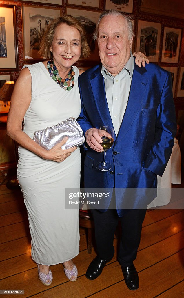 Frederick Forsyth (R) attends the launch of Dame Joan Collins' new book 'The St. Tropez Lonely Hearts Club' at Harry's Bar on May 5, 2016 in London, England.
