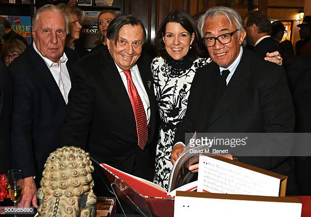 Frederick Forsyth Barry Humphries Jill Kluge Group Director of Brand Communication for Mandarin Oriental Hotel Group and Sir David Tang attend a...