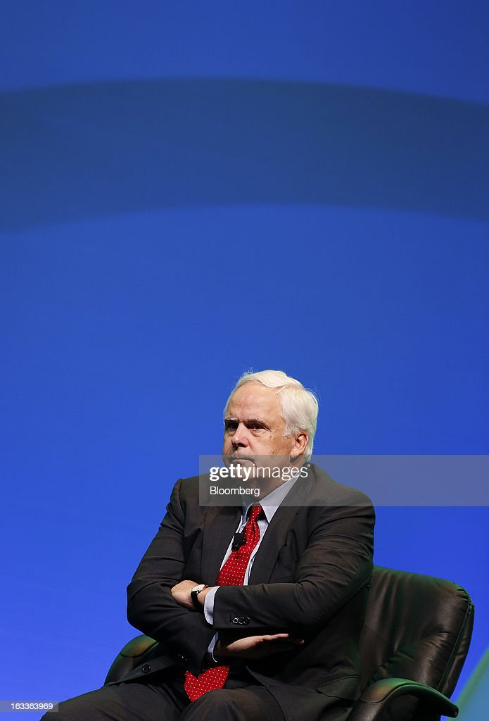 Frederick 'Fred' Smith, president and chief executive officer of FedEx Corp., listens during the 2013 IHS CERAWeek conference in Houston, Texas, U.S., on Friday, March 8, 2013. IHS CERAWeek is a gathering of senior energy decision-makers from around the world and provides presentations from senior industry executives, government officials and thought leaders on the changing energy playing field. Photographer: Aaron M. Sprecher/Bloomberg via Getty Images