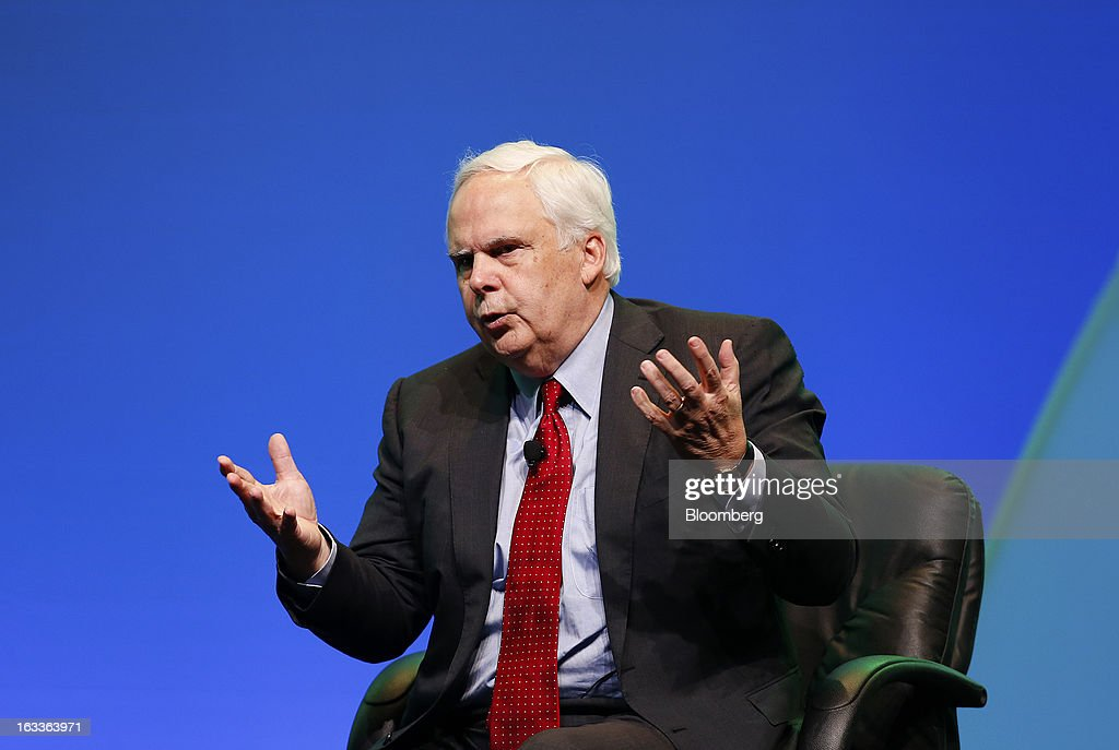 Frederick 'Fred' Smith, president and chief executive officer of FedEx Corp., speaks during the 2013 IHS CERAWeek conference in Houston, Texas, U.S., on Friday, March 8, 2013. IHS CERAWeek is a gathering of senior energy decision-makers from around the world and provides presentations from senior industry executives, government officials and thought leaders on the changing energy playing field. Photographer: Aaron M. Sprecher/Bloomberg via Getty Images