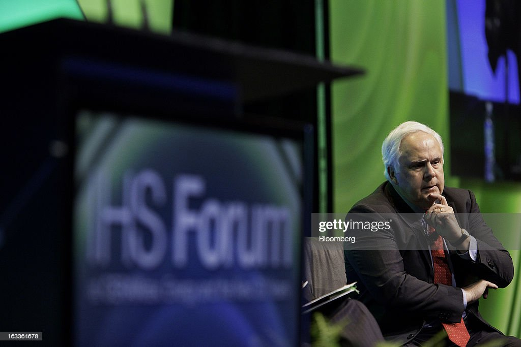 Frederick 'Fred' Smith, president and chief executive officer of FedEx Corp., listens during the 2013 IHS CERAWeek conference in Houston, Texas, U.S., on Friday, March 8, 2013. IHS CERAWeek is a gathering of senior energy decision-makers from around the world and provides presentations from senior industry executives, government officials and thought leaders on the changing energy playing field. Photographer: F. Carter Smith/Bloomberg via Getty Images