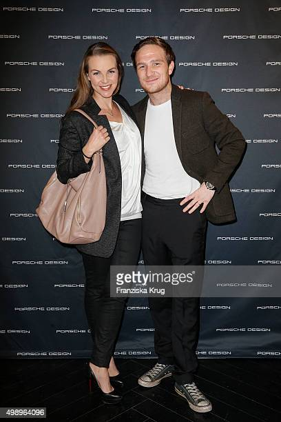 Frederick Lau and Annika Lau attend the Porsche Design Presents Innovations at the Porsche Design Store on November 27 2015 in Berlin Germany