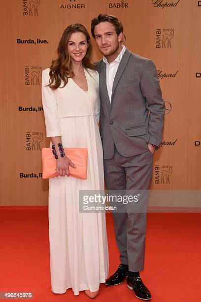 Frederick Lau and his wife Annika Kipp attend the Bambi Awards 2015 at Stage Theater on November 12 2015 in Berlin Germany