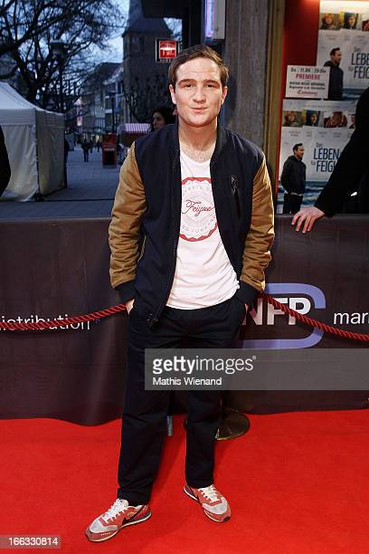 Frederick Lau attends the Premiere of 'Das Leben ist nichts fuer Feiglinge' at Lichtburg on April 11 2013 in Essen Germany