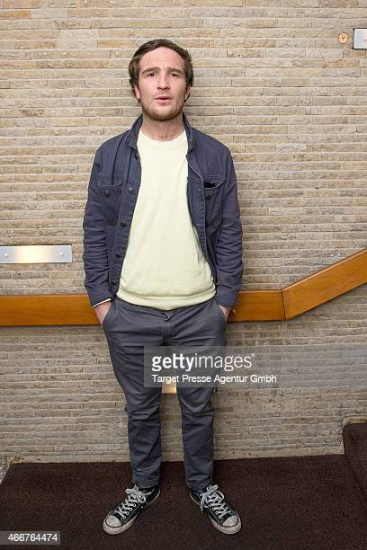 Frederick Lau poses for a portrait during the Berlin premiere of the film 'Starfighter Sie wollten den Himmel erobern' at Kino International on March...