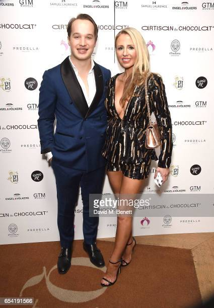 Frederick Szydlowski and Naomi Isted attend the ICONIC PR LND and PerrierJouët art presention of works by Picasso Miro Matisse Chagall at QP LDN on...
