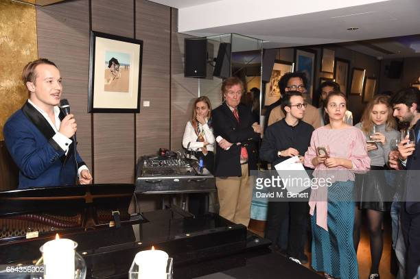 Frederick Szydlowski attends the ICONIC PR LND and PerrierJouët art presention of works by Picasso Miro Matisse Chagall at QP LDN on March 16 2017 in...