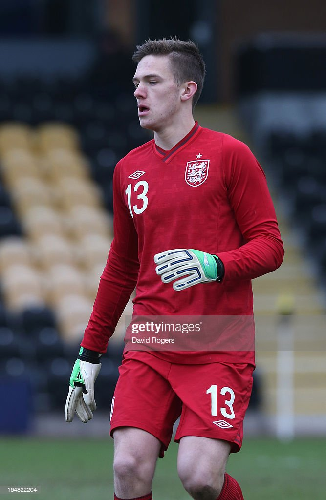 Frederick Woodman of England looks on during the UEFA European Under 17 Championship match between England and Slovenia at Pirelli Stadium on March 28, 2013 in Burton-upon-Trent, England.