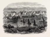 Fredericksburg Virginia United States Of America US USA 1870s Engraving