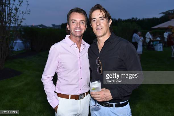 Frederico Azevedo and Alex Cohen attend 2017 Hampton Designer Showhouse Gala Preview Cocktail Party at a Private Residence on July 22 2017 in...