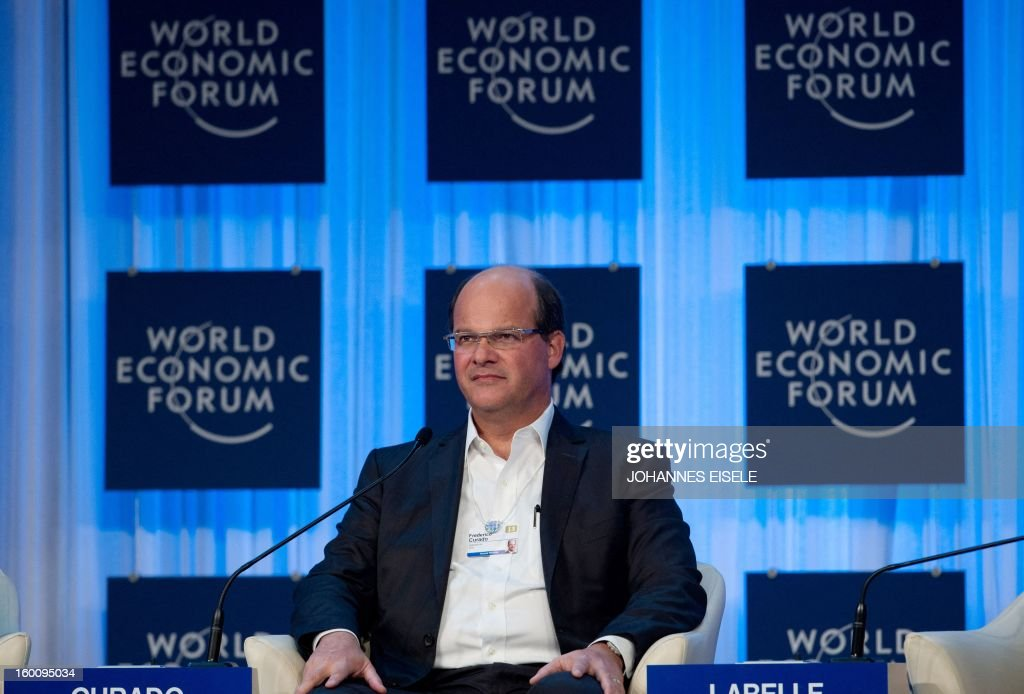 Frederico Curado of Brazil, CEO of Embraer SA company, a Brazilian aerospace conglomerate, attends a session of the World Economic Forum Annual Meeting on January 26, 2013 at the Swiss resort of Davos. The World Economic Forum (WEF) will take place from January 23 to 27.